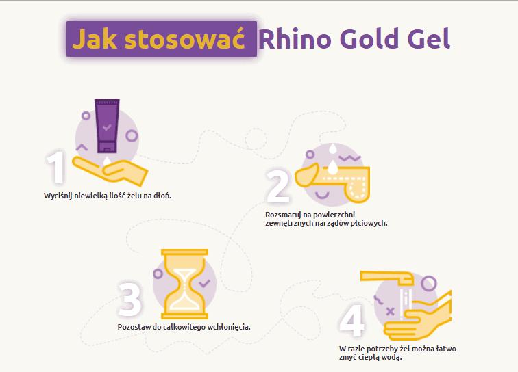 rhino gold gel stosowanie jak używać skład ulotka